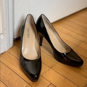 Ellen Tracy 8 1/2M Cody heels black patent pump 👠